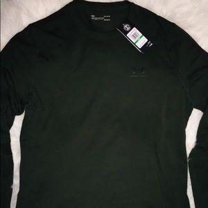 Under Armour Pure Olive Long Sleeve Shirt sz Lg